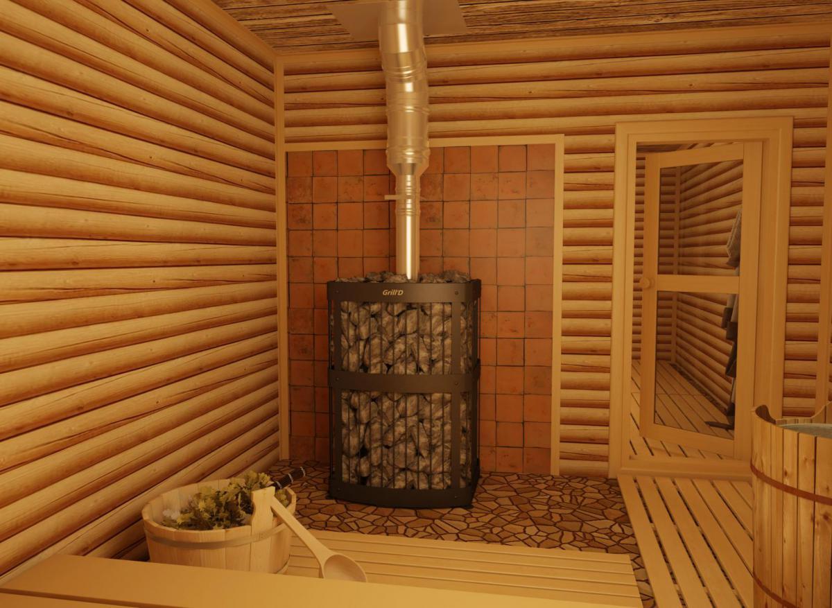 Печка в русской бане 107